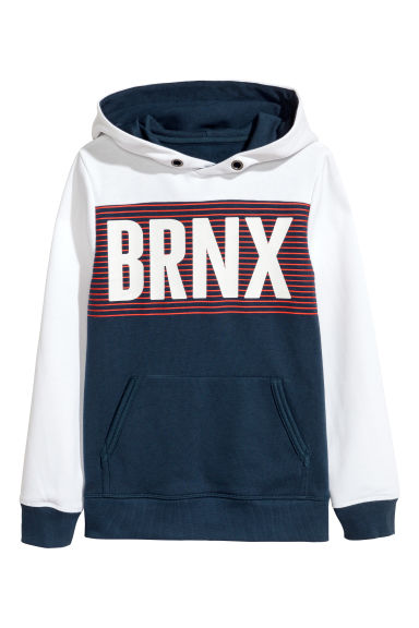 Generous fit Hooded top - Dark blue - Kids | H&M CN 1